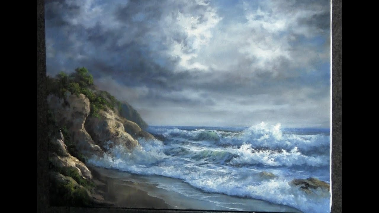 Paint With Kevin Hill Rocky Ocean Shore Youtube
