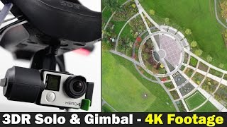 3d robotics solo smart drone with 3-axis gimbal - 4k footage