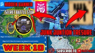 FORTNITE SEASON 8 WEEK 10 Challenges GUIDE! CHEAT SHEET /Treasure Map Junk Junction