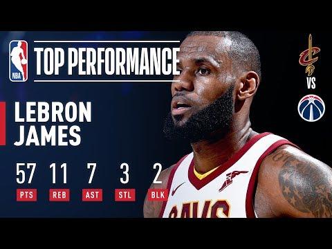 LeBron James Explodes For 57 POINTS in Win vs. Wizards | November 3, 2017