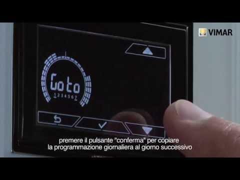 Chronos cronotermostato touch screen da parete vemer doovi for Termostato bticino living istruzioni