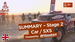 Summary - Car/SxS - Stage 2 (Pisco / San Juan de Marcona) - Dakar 2019