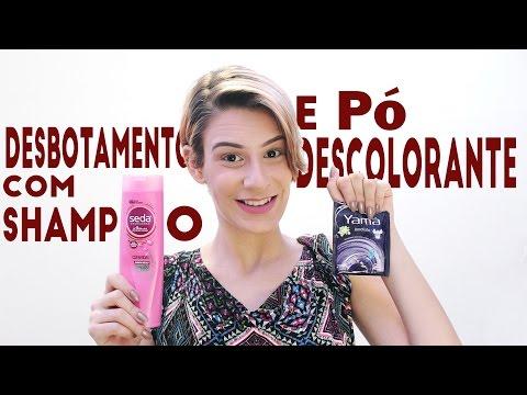 Desbotando o cabelo com shampoo e pó descolorante por Branca Make-up
