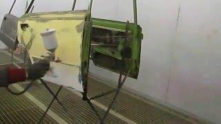 Этапы нанесения покрытия / покраски U-Pol Raptor - 1. Нанесение кислотного грунта cмотреть видео онлайн бесплатно в высоком качестве - HDVIDEO