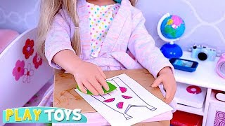 How to Print Vegetable Stamps on Your American Girl Doll Dress DYI Tips!