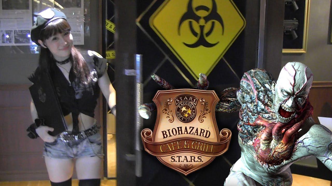 Hasil gambar untuk resident evil cafe japan