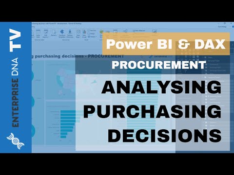 Analyse Procurement Purchasing Decisions in Power BI using DAX