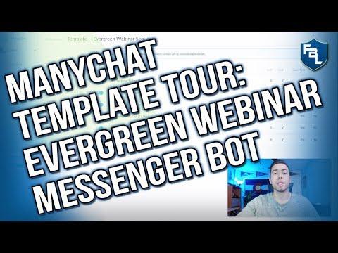 ManyChat Template: Evergreen Webinar Messenger Bot