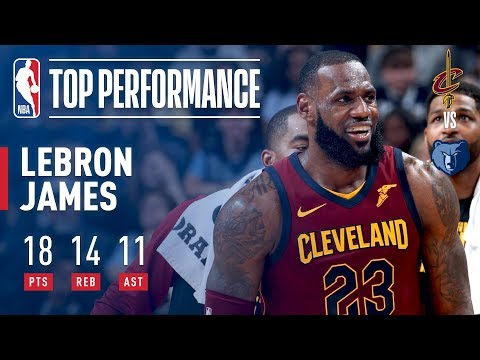 LeBron James Picks Up a Triple-Double (18/14/11) in Win Over the Grizz   February 23, 2018