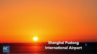 Time lapse of Shanghai Pudong Int'l Airport