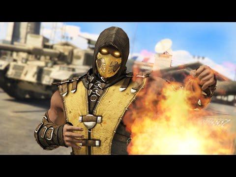 GTA 5 Mods - MORTAL KOMBAT SCORPION MOD!! GTA 5 Mortal Kombat Mod Gameplay! (GTA 5 Mods Gameplay)
