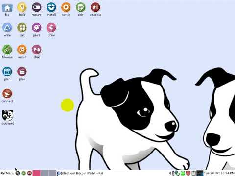Electrum On Puppy Linux - Offline Bitcoin Wallet On USB