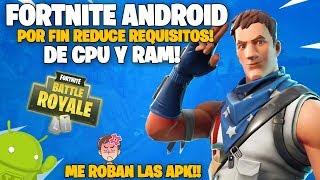 FORTNITE para ANDROID REDUCE REQUISITOS de CPU Y RAM de FORMA OFICIAL! - WILLYGAMER ME ESTA ROBANDO!