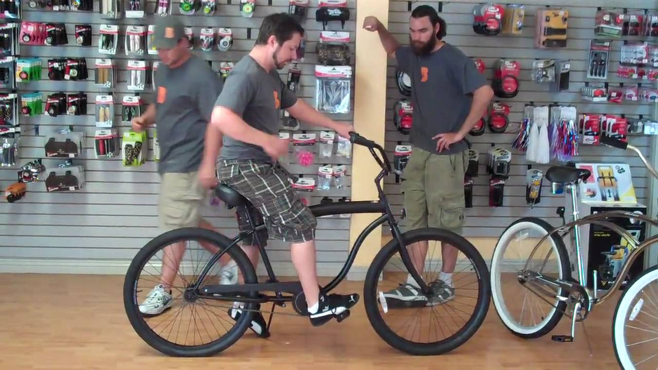 Appropriate Beach Cruiser Bicycle Sizing For Men Youtube
