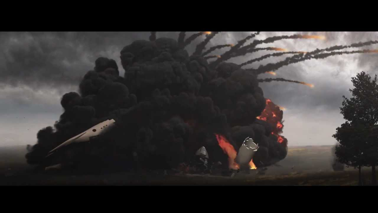 Plane Crash special effects - 3ds Fume Fx After Effects Element 3D