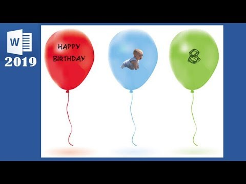 make-birthday-card-with-photo-balloon-using-ms-word-step-by-step
