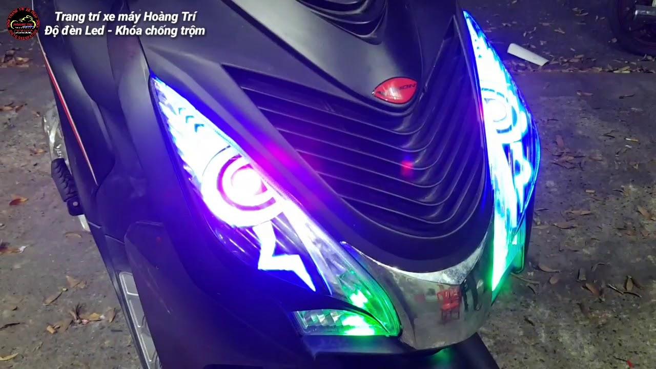 Độ đèn Led Audi xe Happy Vision 2017 mẫu Mắt Cú