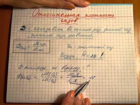 Как обозначается плотность вещества в химии