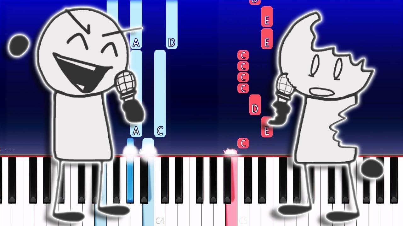 Friday Night Funkin' - V.S. Sketchy - Rip and Tear (Piano Tutorial)