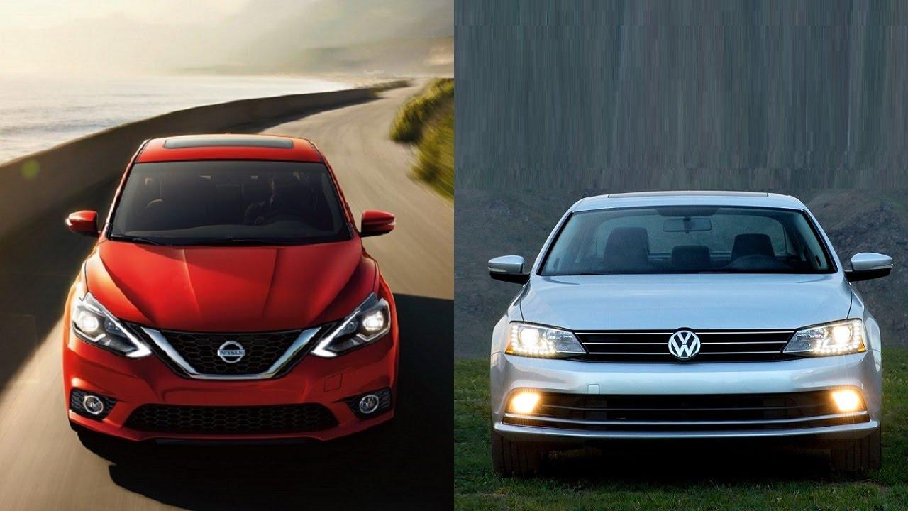 2016 Nissan Sentra vs 2016 Volkswagen Jetta - YouTube