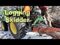 🚜  SKIDDING LOGS with 3pt skidder attachment and our John Deere 3038E