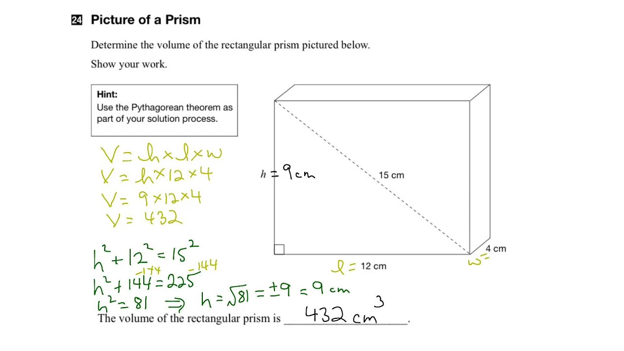 EQAO Grade 9 Applied Math 2015 Open Response Question 24 Solution ...