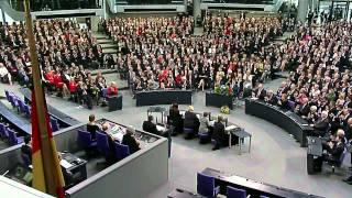 Joachim Gauck ist neuer Bundespräsident - Bekanntgabe der Wahl und anschließende Rede