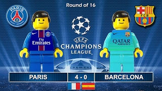 Paris Saint-Germain PSG vs BARCELONA 4-0 • Champions League 2017 • 14/02/2017 ( Film Lego Football )