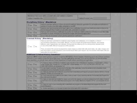 Florida Nurse Aide Application Tutorial
