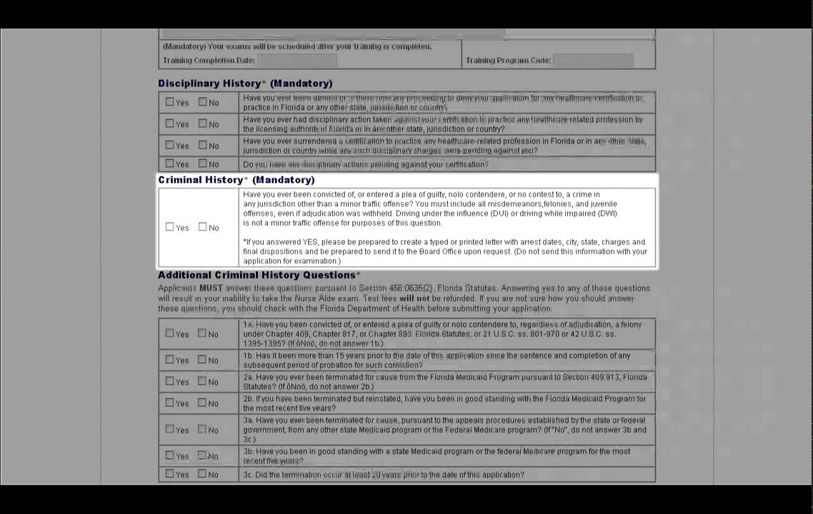 Florida nurse aide application tutorial youtube xflitez Image collections