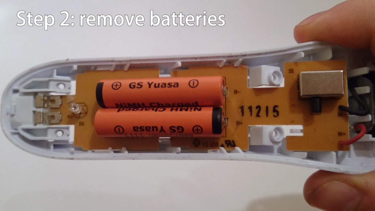 Batterie Aaa Battery Replacement Philips Qc5130 [english] Disassembled