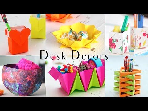 6 Easy Desk Decors | Paper Craft Ideas | Compilation