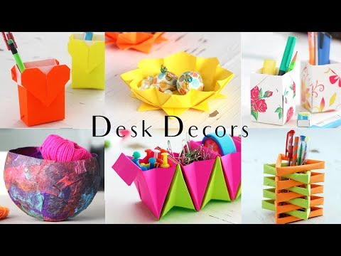 6 Easy Desk Decors | Paper Craft Ideas | Compilation