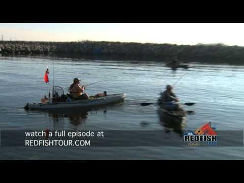 Kayak Fisherman Whacking Redfish