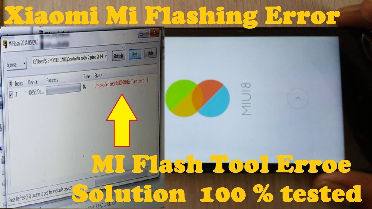 How To Fix Mi Xiaomi Redmi Flashing Tool Error Solution/How To Flash Mi  Redmi 2 Prime No Error 2017