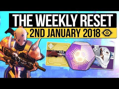 Destiny 2   WEEKLY RESET! - Maintenance, Dawning Reset, Nightfall & Eververse! (2nd January 2018)