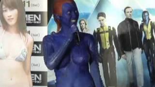 原幹恵が特殊メイクでX-MENに。胸のメイク方法に興味津々!? 原幹恵 動画 16