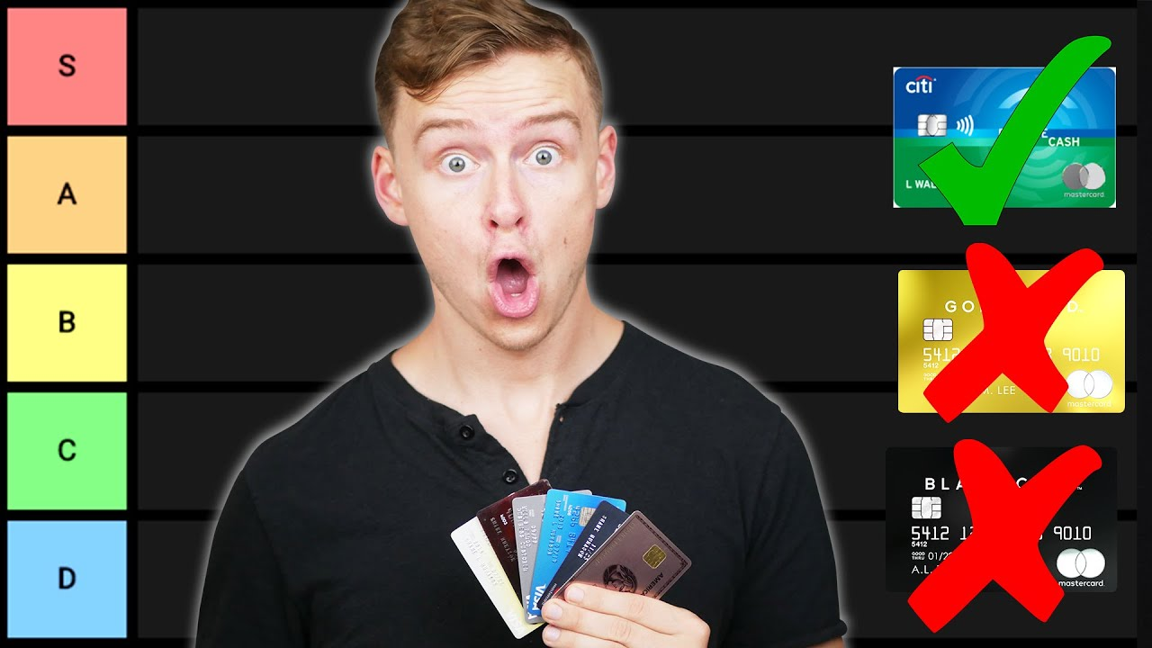 Beginner Credit Card Tier List (Credit Cards Ranked)