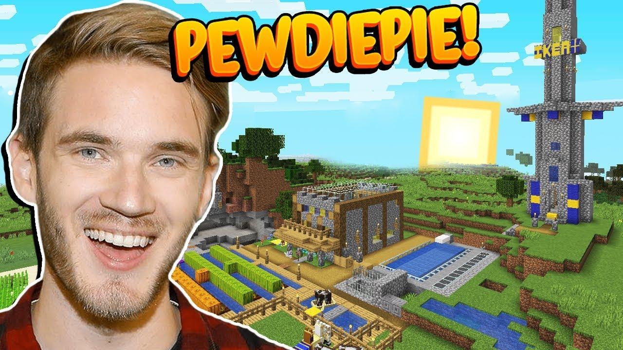 Minecraft: EXPLORANDO O SURVIVAL DO PEWDIEPIE, O MAIOR YOUTUBER DO MUNDO!