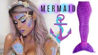 Mermaid Makeup Tutorial   Halloween 2017   Valerie Pac