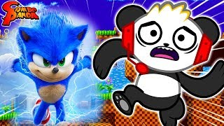 *NEW* SONIC THE HEDGEHOG! Fastest Runner Challenge! Let's Play with Combo Panda