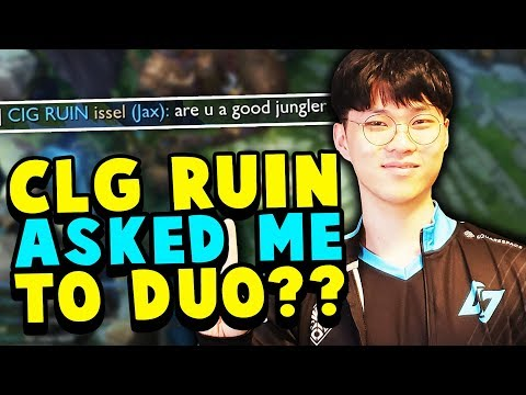 CLG Ruin actually wanted duo because of this game!? no way...  - Challenger to RANK 1