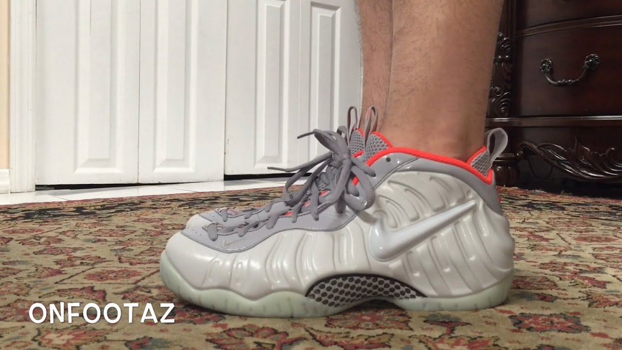 293e8a113e6 Nike Air Foamposite Pro Pure Platinum Yeezy On Foot - YouTube