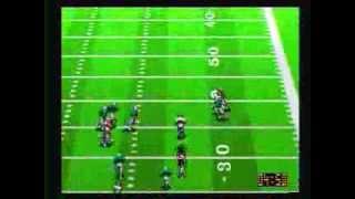 NFL Quarterback Club Sega Genesis  (Chiefs vs Dolphins)