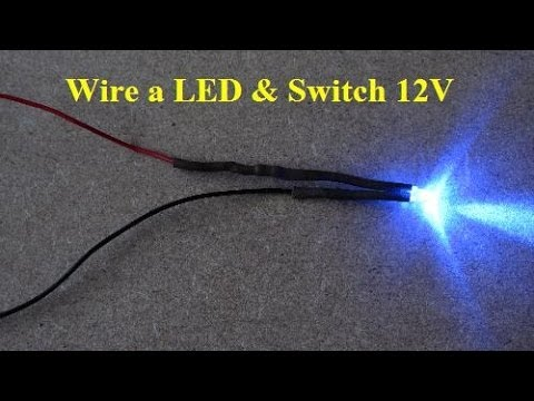 DIY How to Solder a LED and Wire Rocker Switch 12v ไฟเส้น led - YouTube