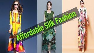 Top 5 Newest ladies silk Dresses 2018 - Affordable cheap Silk Fashion