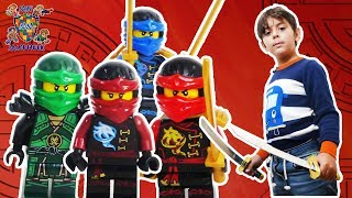 ЛЕГО НИНДЗЯГО и ЯРИК играют в приложение LEGO NINJAGO!