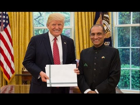 Newly appointed Ambassador to US Aizaz Chaudhry called on President Trump