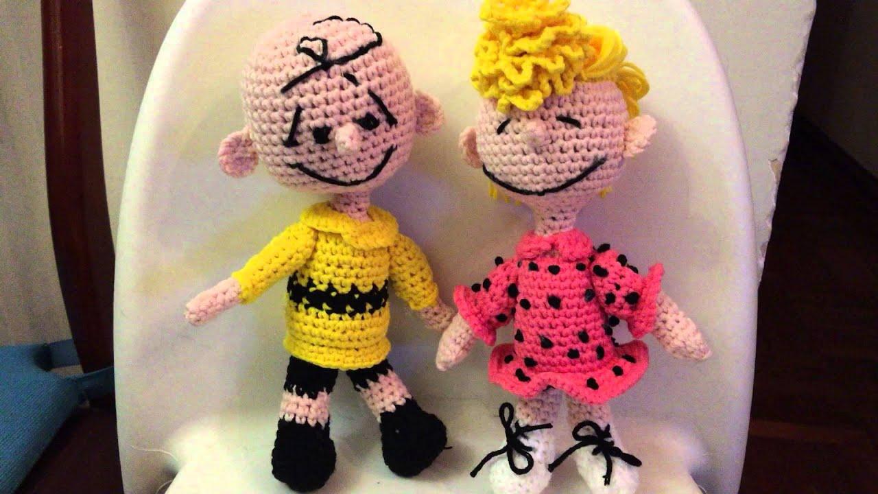 Amigurumi Tutorial Snoopy : Peanuts crochets snoopy fifi brown's family woodstock youtube