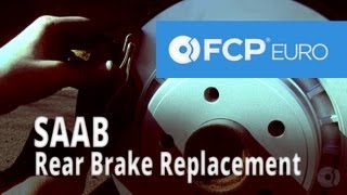 Saab Brake Replacement (9-5 Arc Rear Pads & Rotors) FCP Euro